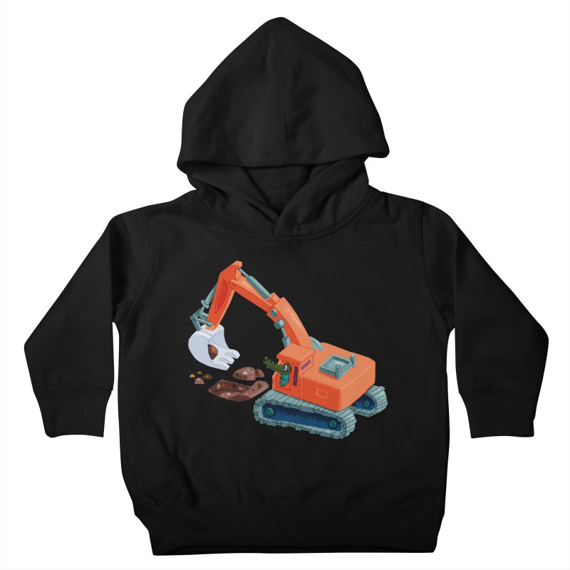 Croco Digger Kids Toddler Pullover Hoody by lomp's Artist Shop