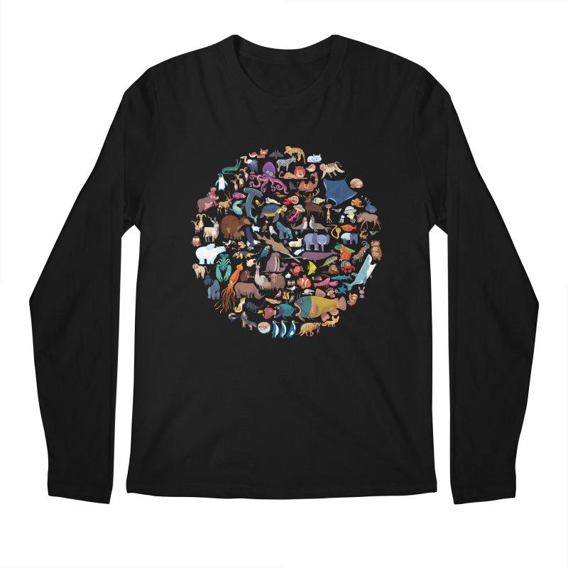Animal Kingdom Men's Longsleeve T-Shirt by lomp's Artist Shop