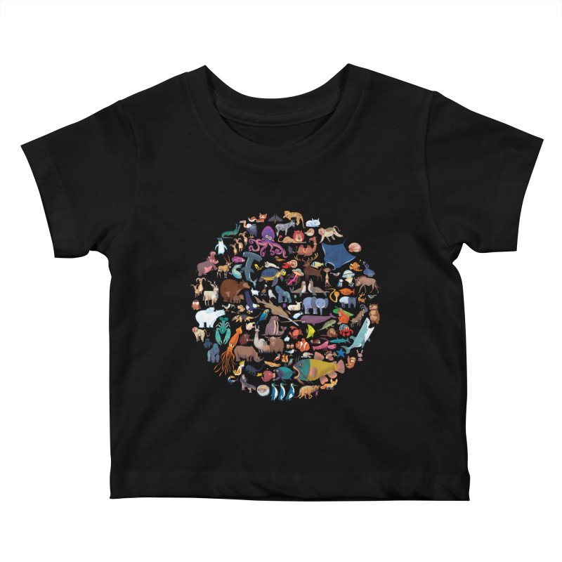 Animal Kingdom Kids Baby T-Shirt by lomp's Artist Shop