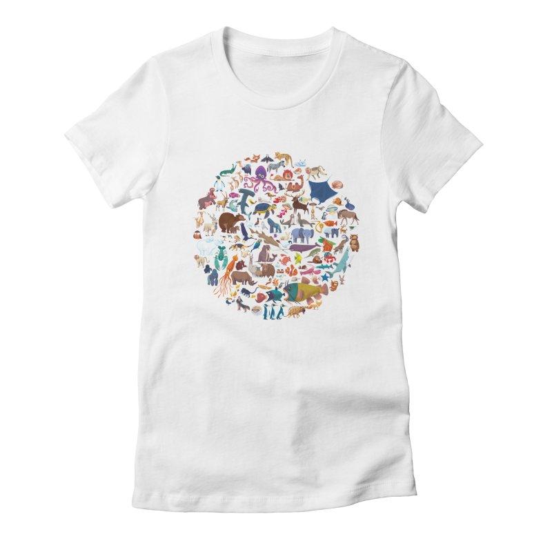 Animal Kingdom Women's T-Shirt by lomp's Artist Shop