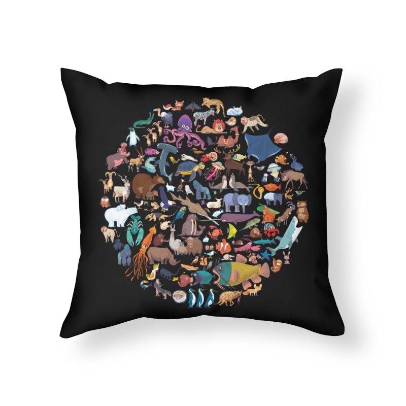 Animal Kingdom Home Throw Pillow by lomp's Artist Shop