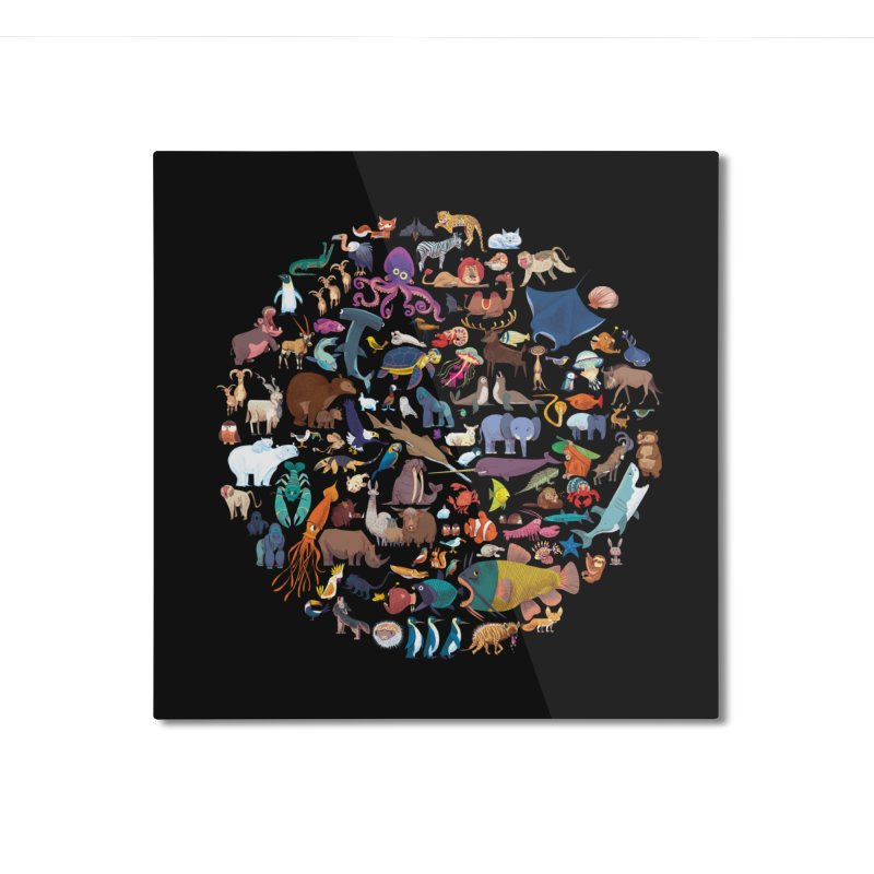 Animal Kingdom Home Mounted Aluminum Print by lomp's Artist Shop