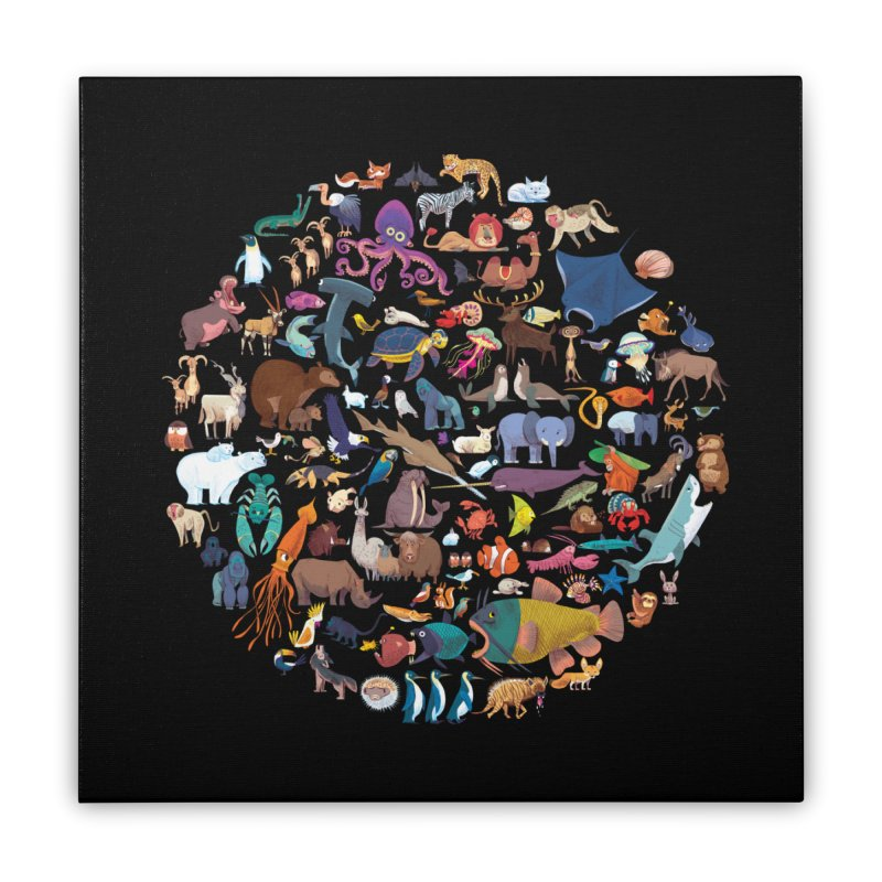 Animal Kingdom Home Stretched Canvas by lomp's Artist Shop