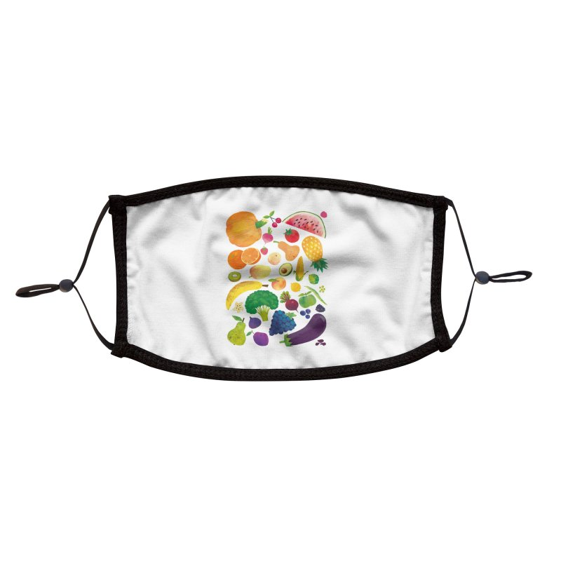 Fruits and Vegetables Accessories Face Mask by lomp's Artist Shop