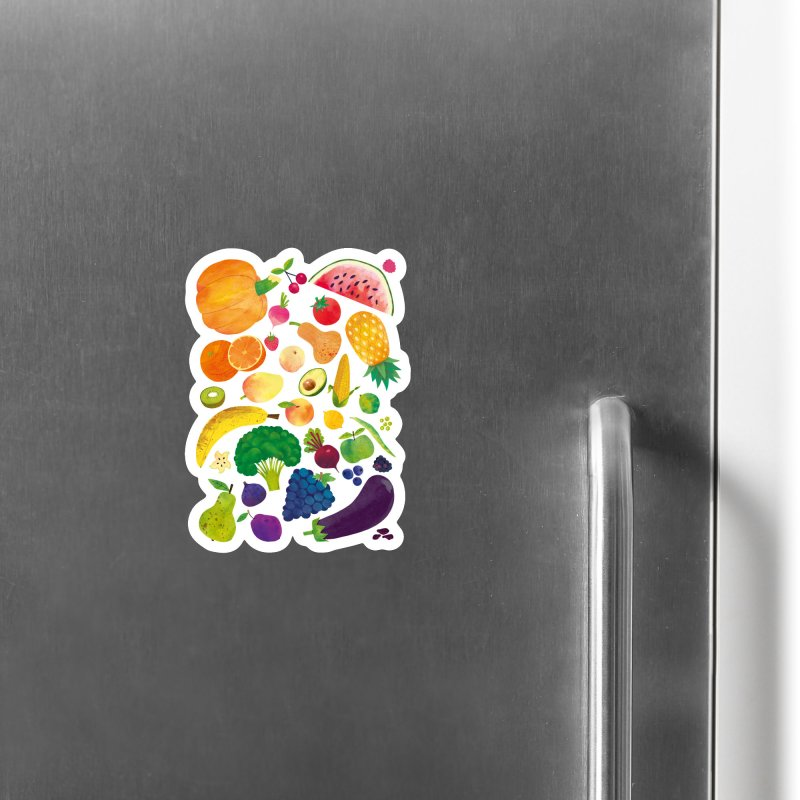 Fruits and Vegetables Accessories Magnet by lomp's Artist Shop
