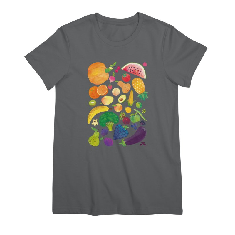 Fruits and Vegetables Women's T-Shirt by lomp's Artist Shop