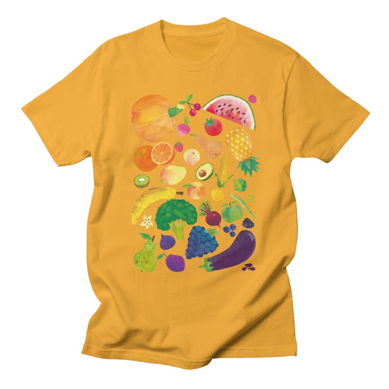 Fruits and Vegetables Men's T-Shirt by lomp's Artist Shop