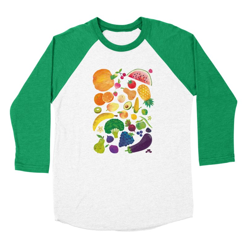 Fruits and Vegetables Women's Longsleeve T-Shirt by lomp's Artist Shop