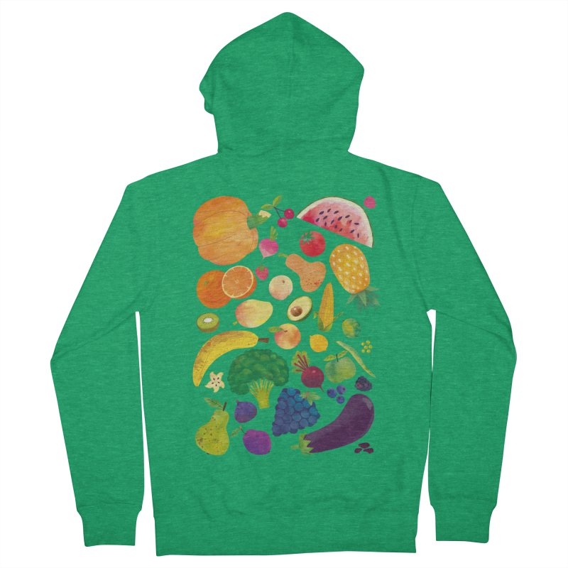 Fruits and Vegetables Women's Zip-Up Hoody by lomp's Artist Shop