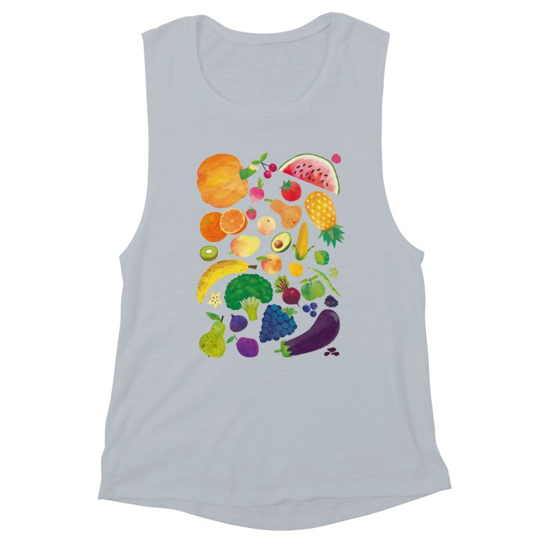 Fruits and Vegetables Women's Tank by lomp's Artist Shop