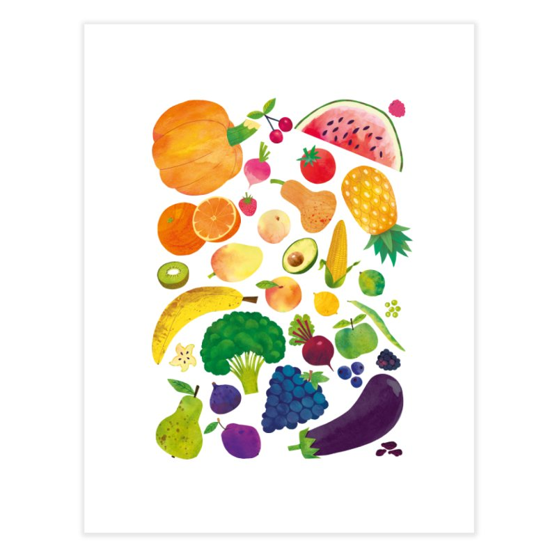 Fruits and Vegetables Home Fine Art Print by lomp's Artist Shop