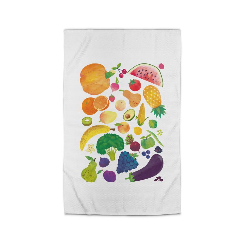 Fruits and Vegetables Home Rug by lomp's Artist Shop