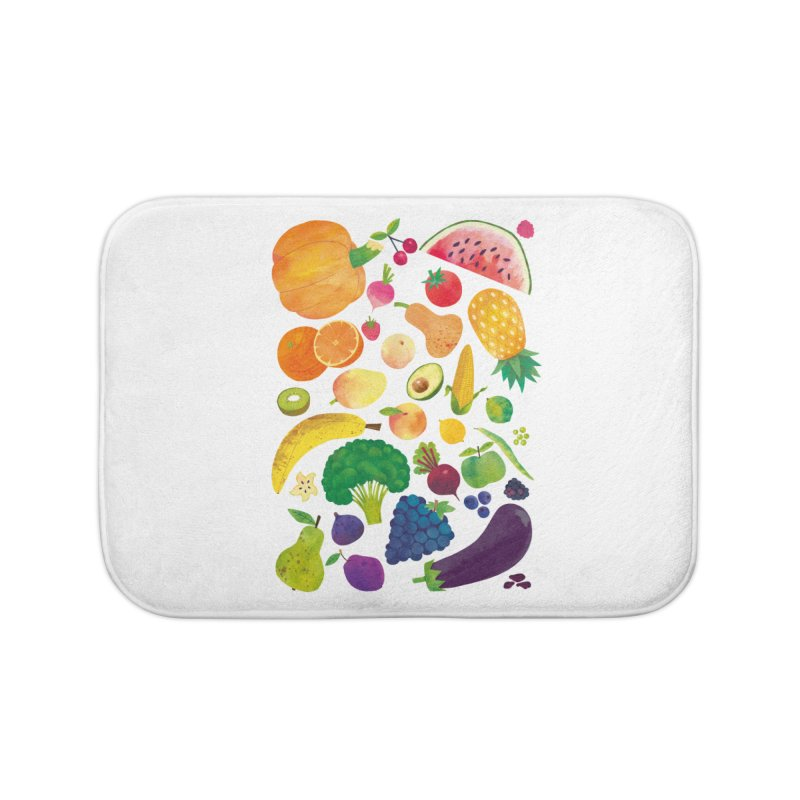 Fruits and Vegetables Home Bath Mat by lomp's Artist Shop