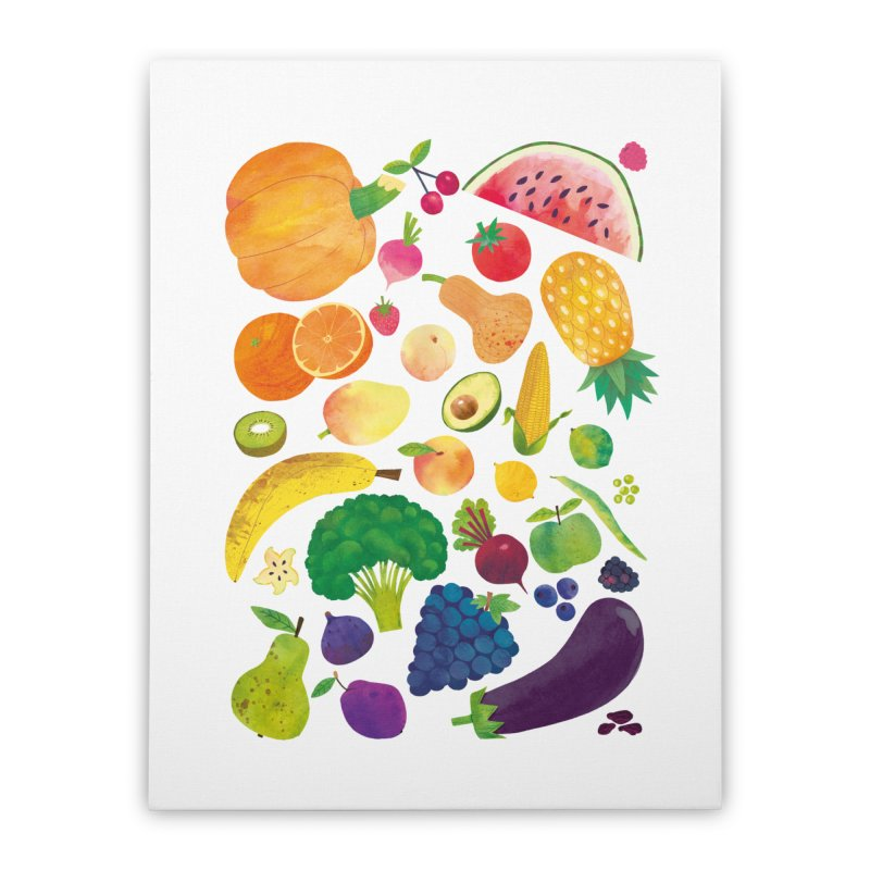 Fruits and Vegetables Home Stretched Canvas by lomp's Artist Shop