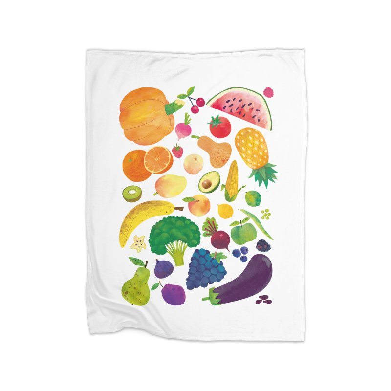 Fruits and Vegetables Home Blanket by lomp's Artist Shop