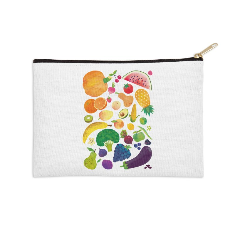 Fruits and Vegetables Accessories Zip Pouch by lomp's Artist Shop