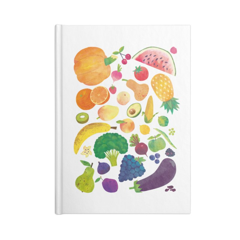 Fruits and Vegetables Accessories Notebook by lomp's Artist Shop