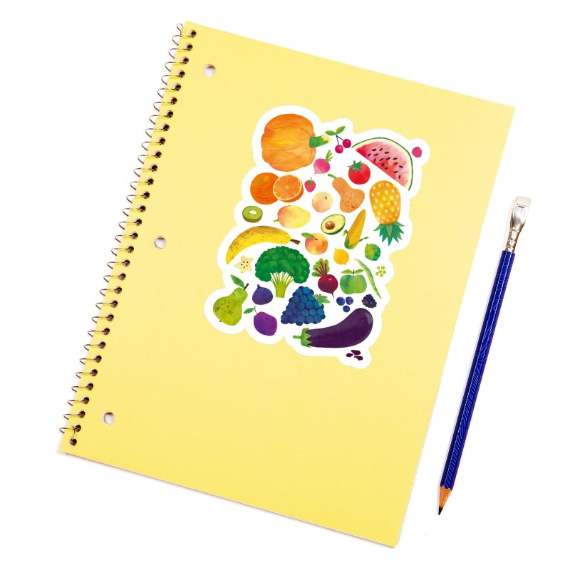 Fruits and Vegetables Accessories Sticker by lomp's Artist Shop
