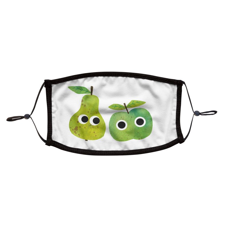 Apple & Pear Accessories Face Mask by lomp's Artist Shop