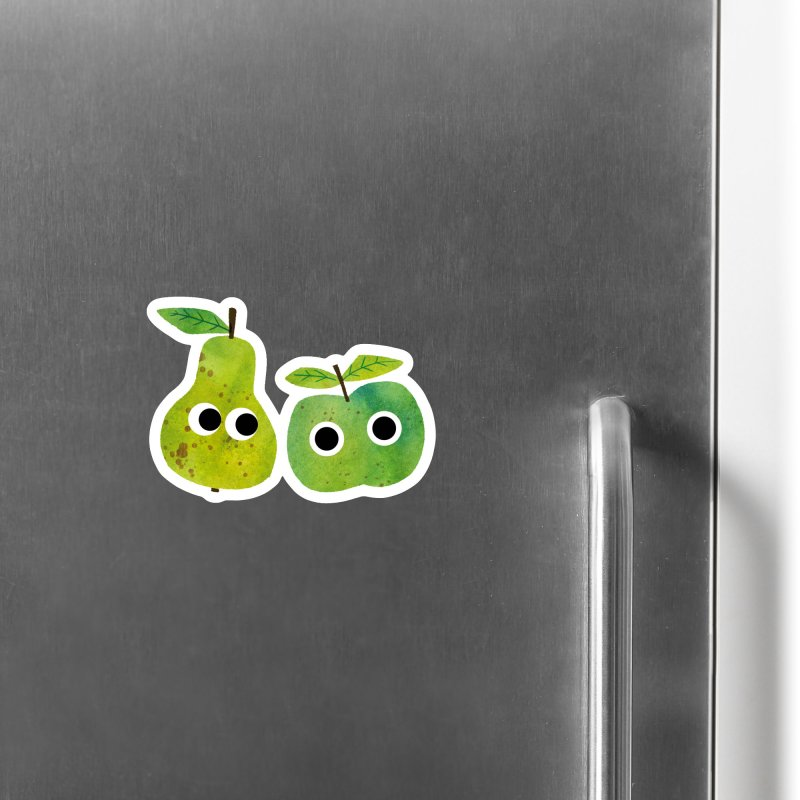 Apple & Pear Accessories Magnet by lomp's Artist Shop