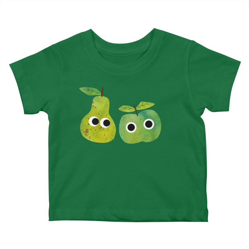 Apple & Pear Kids Baby T-Shirt by lomp's Artist Shop