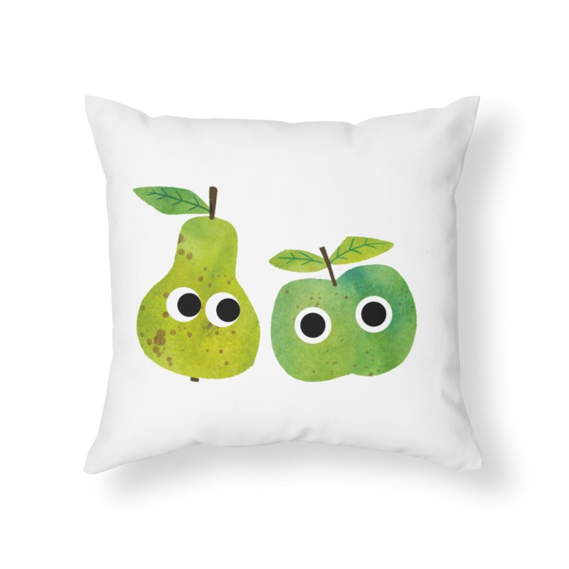 Apple & Pear Home Throw Pillow by lomp's Artist Shop
