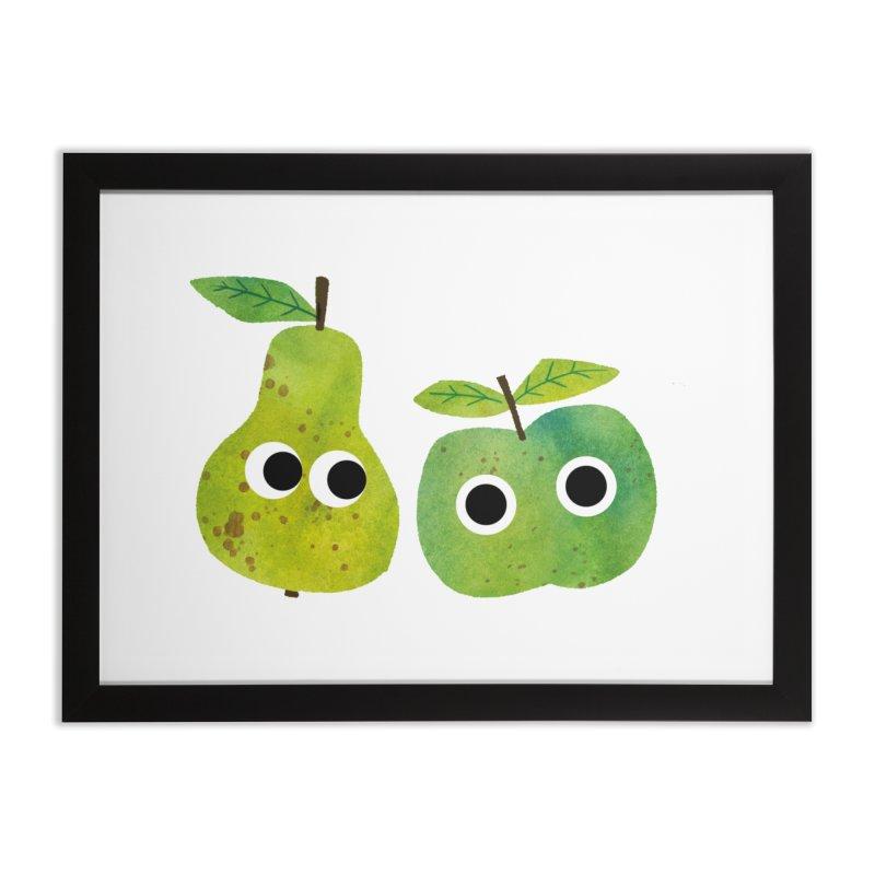 Apple & Pear Home Framed Fine Art Print by lomp's Artist Shop