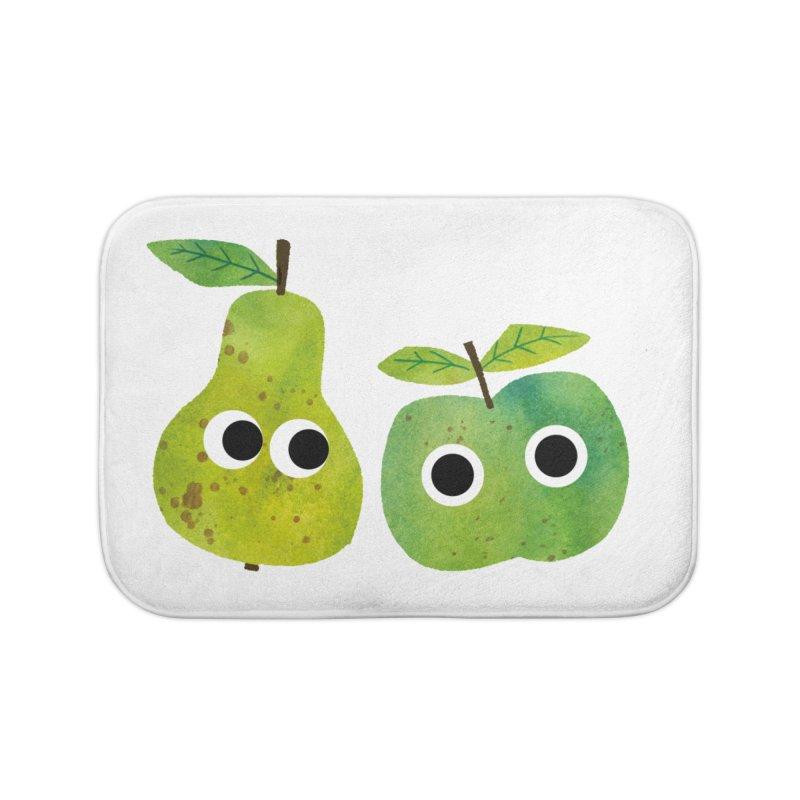 Apple & Pear Home Bath Mat by lomp's Artist Shop