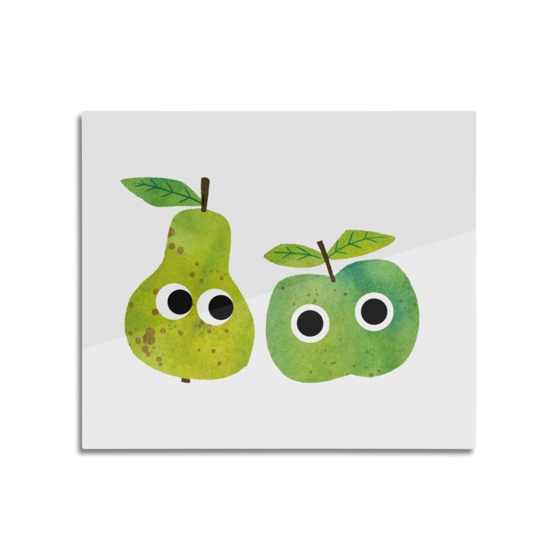 Apple & Pear Home Mounted Aluminum Print by lomp's Artist Shop