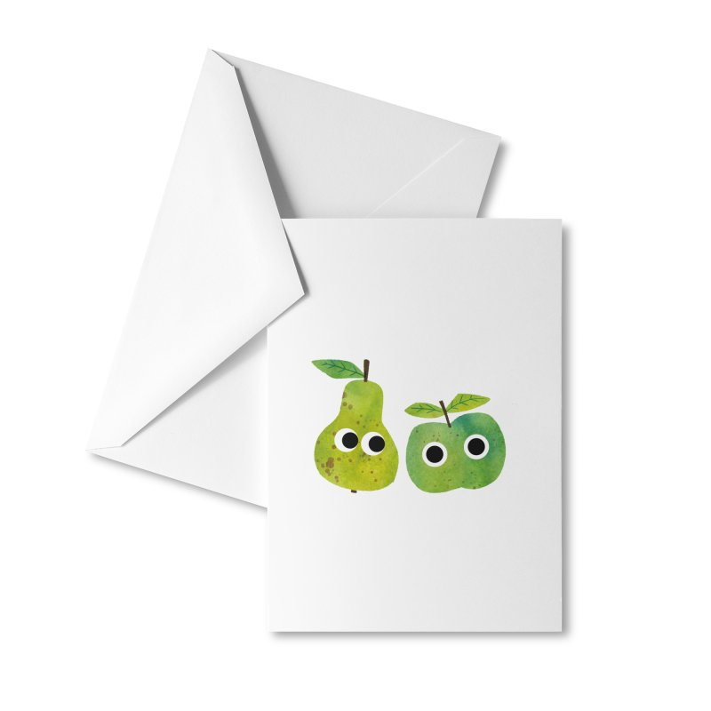 Apple & Pear Accessories Greeting Card by lomp's Artist Shop