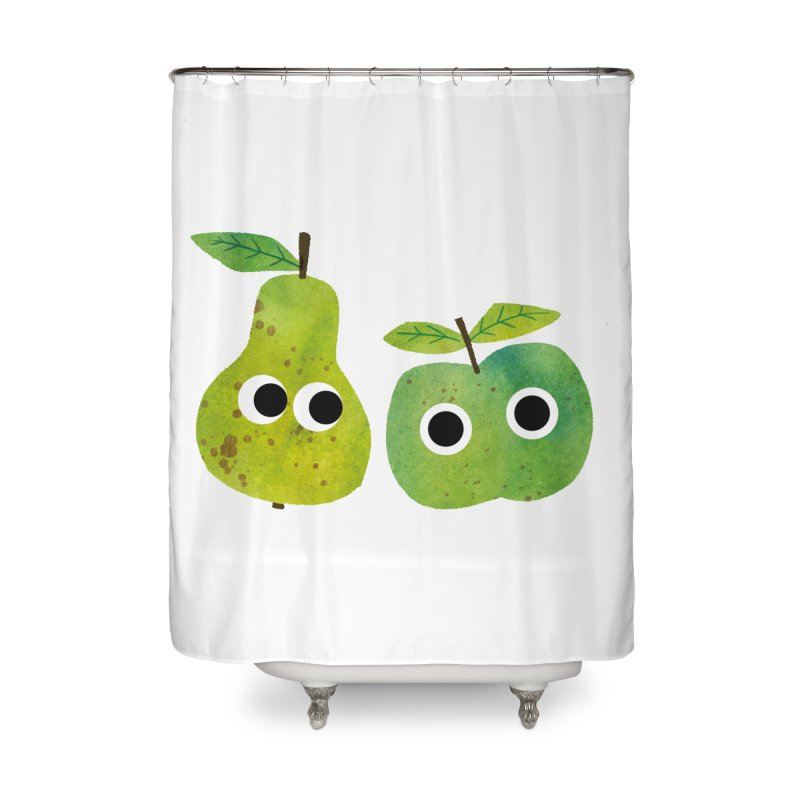 Apple & Pear Home Shower Curtain by lomp's Artist Shop