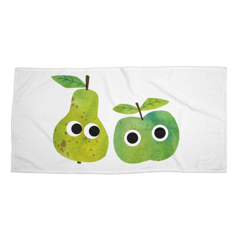 Apple & Pear Accessories Beach Towel by lomp's Artist Shop