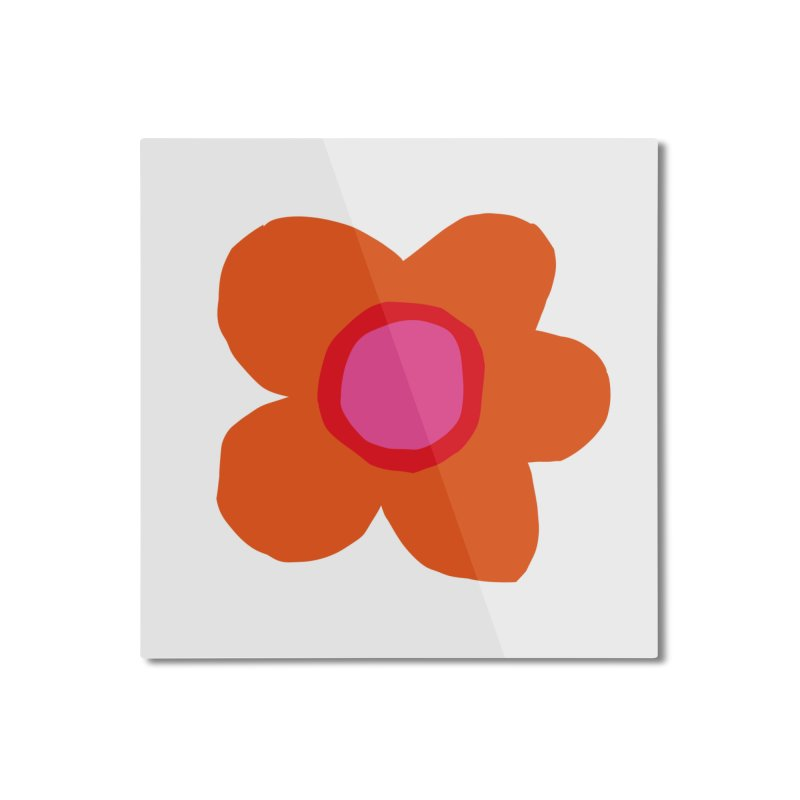 Flower Home Mounted Aluminum Print by lomp's Artist Shop
