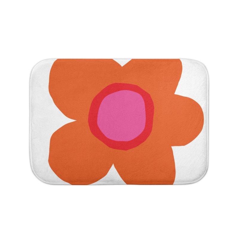 Flower Home Bath Mat by lomp's Artist Shop