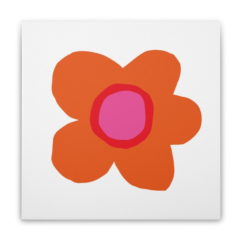 Flower Home Stretched Canvas by lomp's Artist Shop