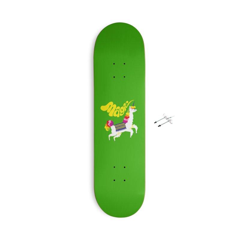 Unillama Magic Accessories Skateboard by lomp's Artist Shop