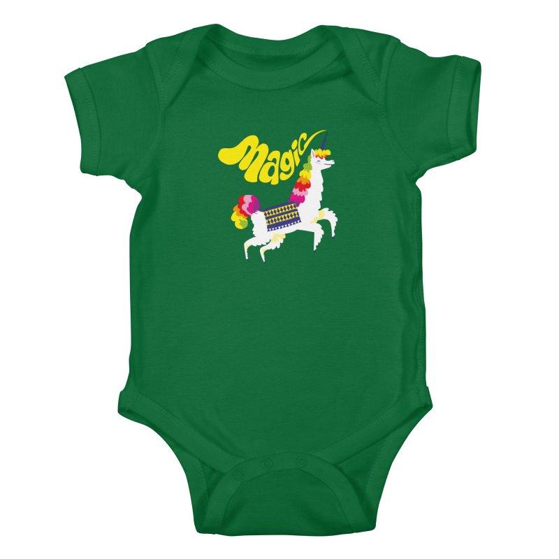 Unillama Magic Kids Baby Bodysuit by lomp's Artist Shop