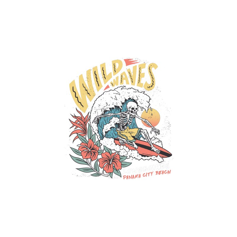 Wild Waves Men's Tank by Longboard's Store