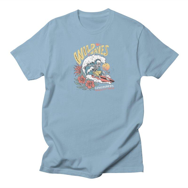 Wild Waves Men's T-Shirt by Longboard's Store