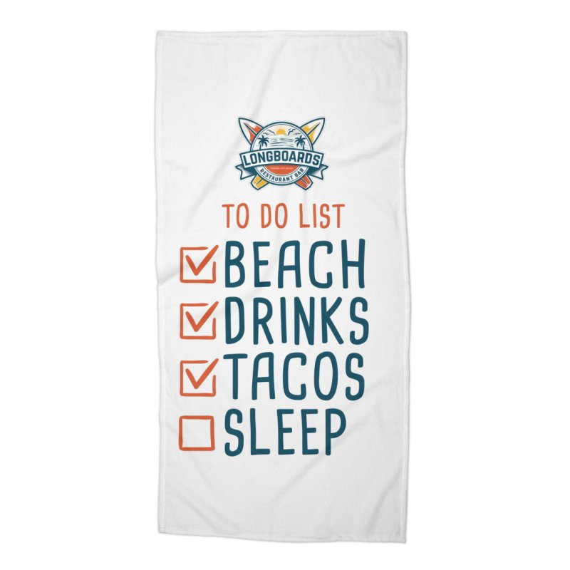 To-Do-List Accessories Beach Towel by Longboard's Store