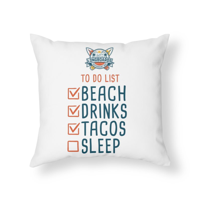 To-Do-List Home Throw Pillow by Longboard's Store