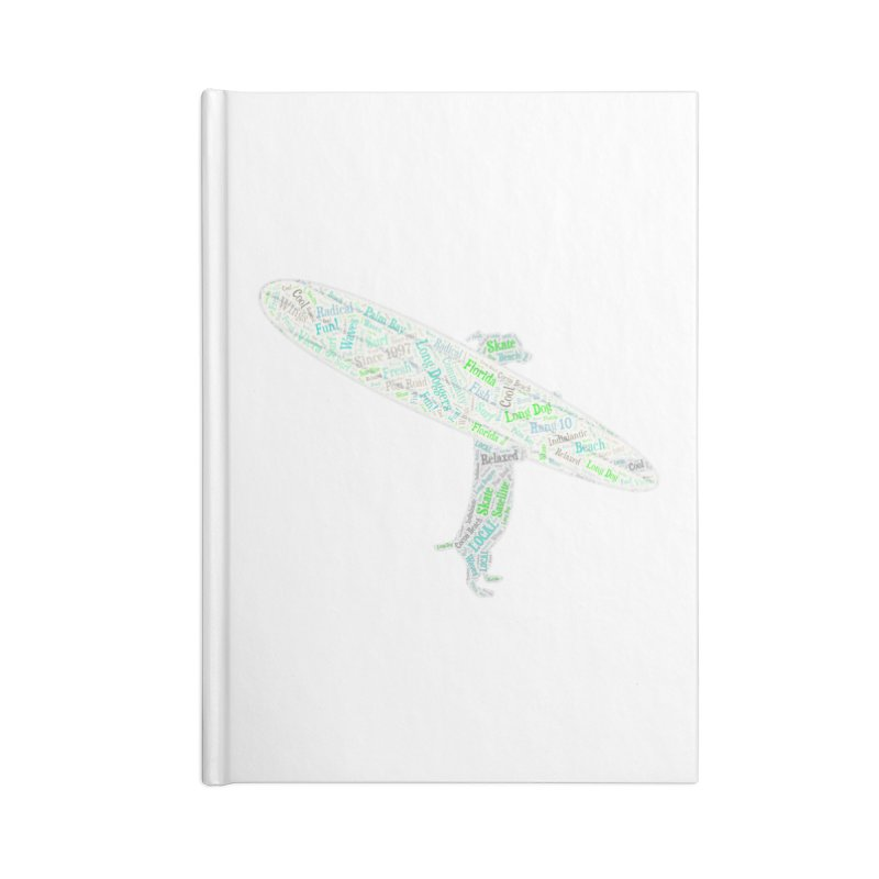 Long Doggers Dog Word Art Accessories Notebook by Long Dogger's Merch Store