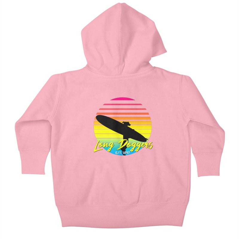 1980s Sun & Surf Kids Baby Zip-Up Hoody by Long Dogger's Merch Store