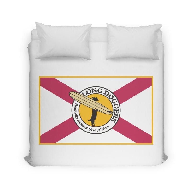 Florida Flag LD Logo Home Duvet by Long Dogger's Merch Store