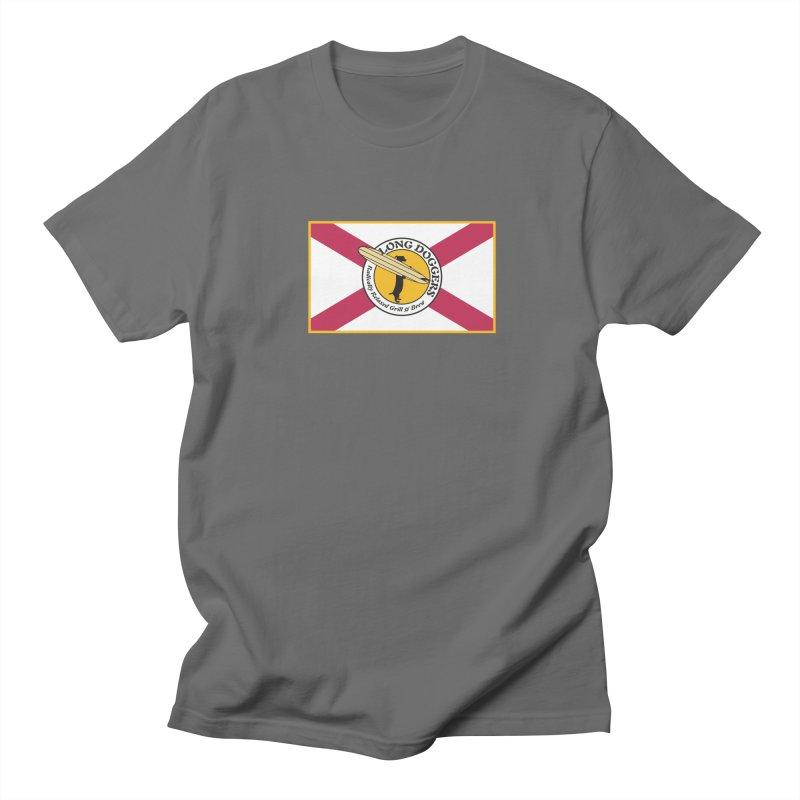 Florida Flag LD Logo Men's T-Shirt by Long Dogger's Merch Store