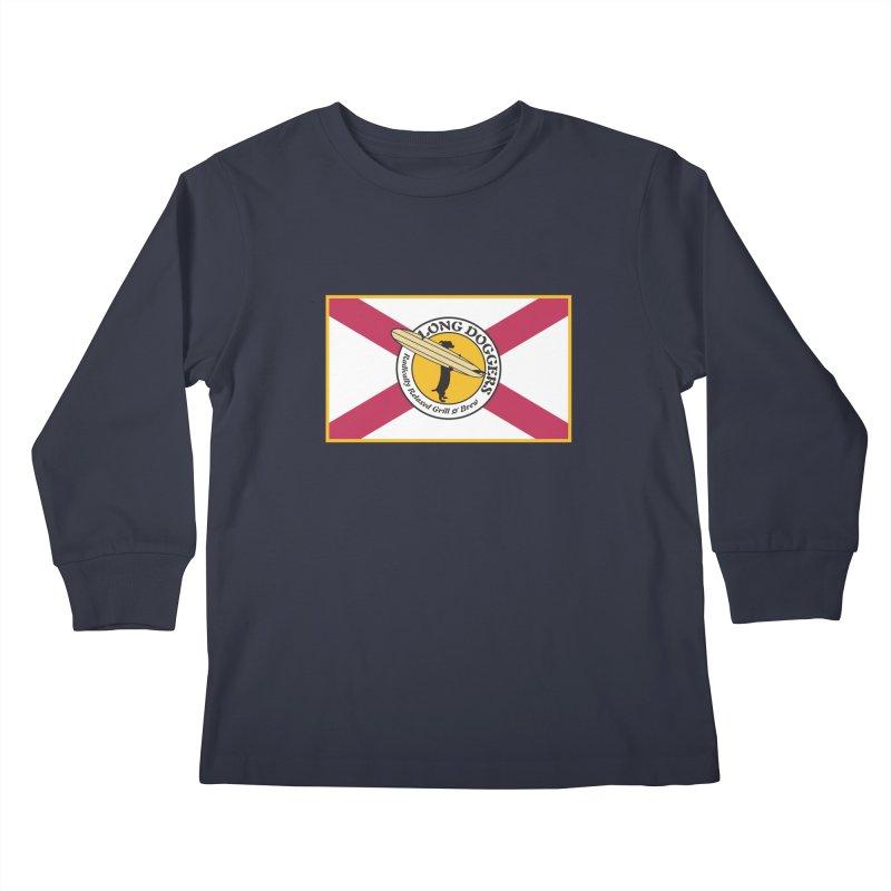 Florida Flag LD Logo Kids Longsleeve T-Shirt by Long Dogger's Merch Store