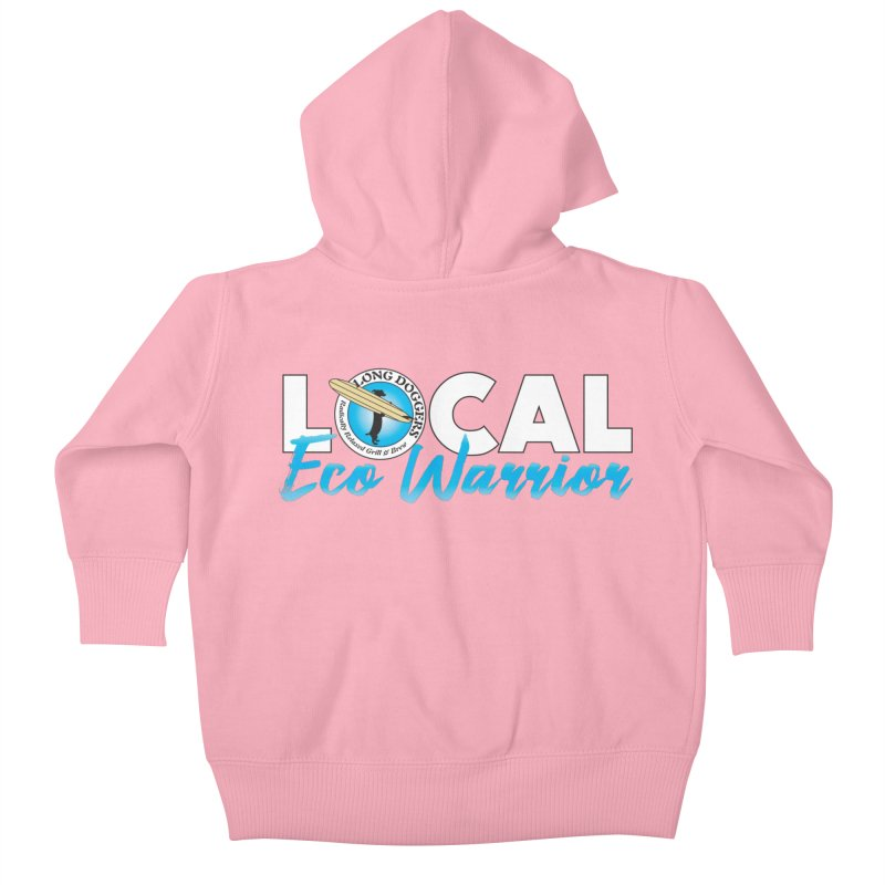 LOCAL Eco Warrior Kids Baby Zip-Up Hoody by Long Dogger's Merch Store