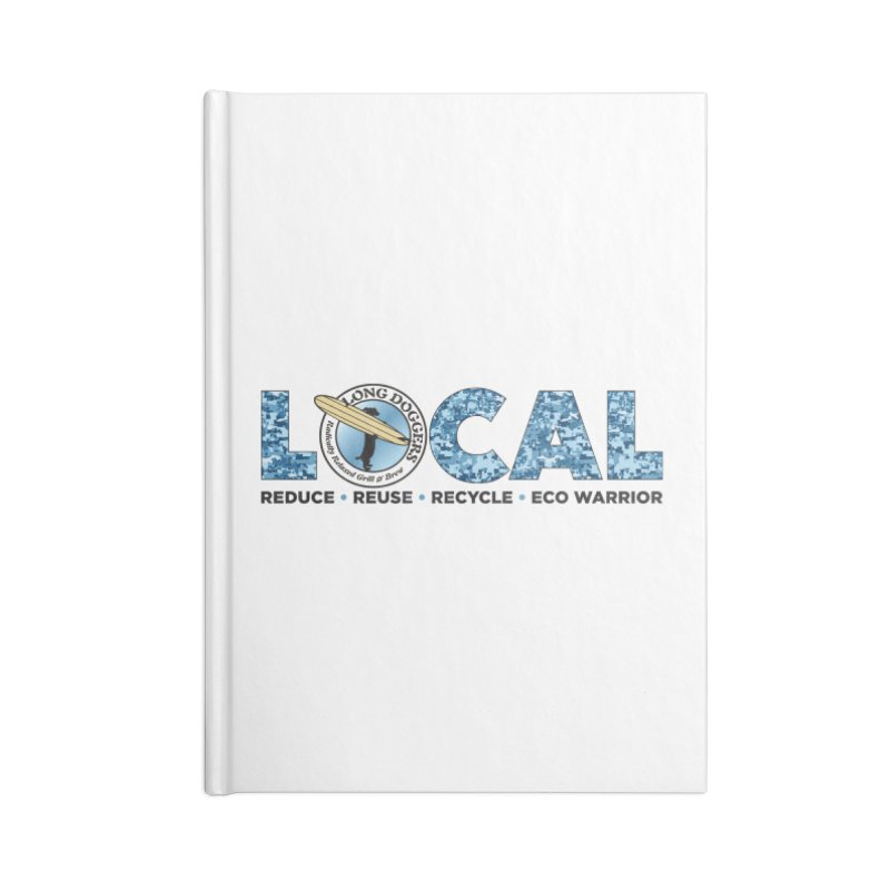 LOCAL ECO WARRIOR - digital water camo Accessories Notebook by Long Dogger's Merch Store