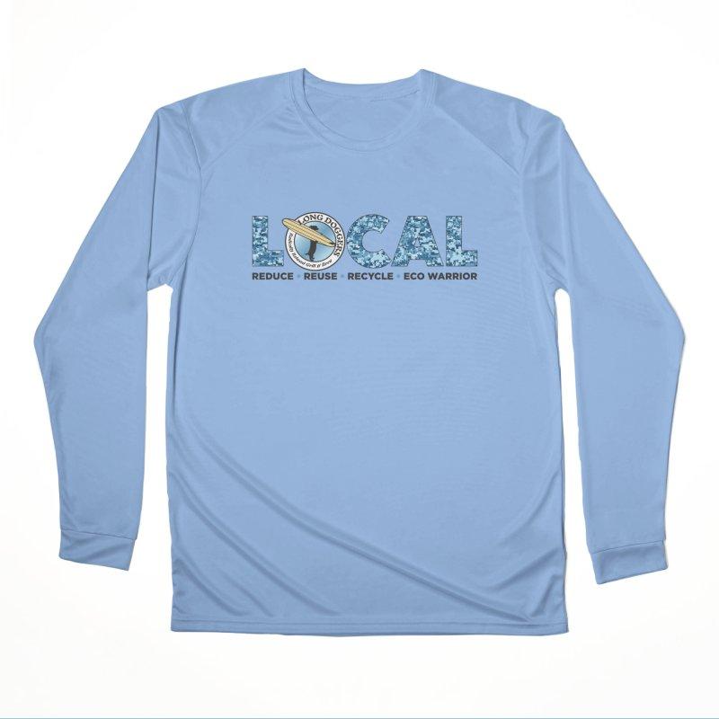 LOCAL ECO WARRIOR - digital water camo Women's Longsleeve T-Shirt by Long Dogger's Merch Store