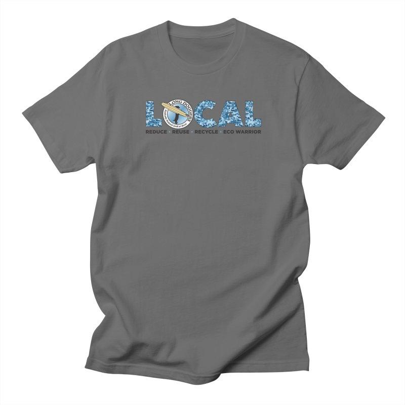 LOCAL ECO WARRIOR - digital water camo Men's T-Shirt by Long Dogger's Merch Store